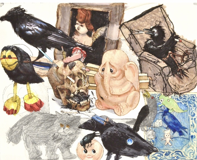 A collage of a variety of illustrations.