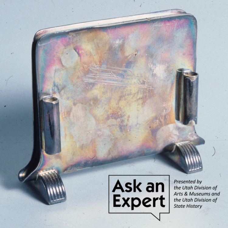 Ask and expert: Presented by the Utah Division of Arts & Museums and the Utah Division of State History: picture of metal art