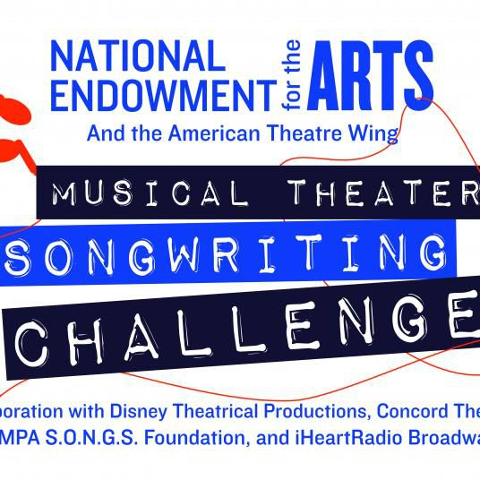 """A graphic that reads """"Musical Theater Songwriting Challenge."""""""