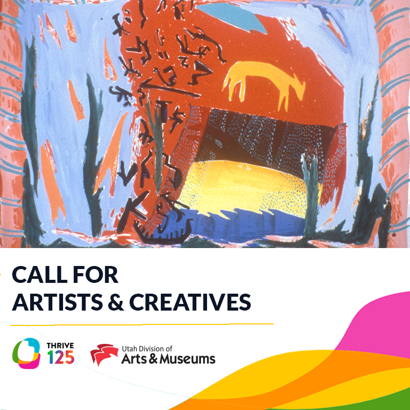 """A graphic that reads, """"Call for Artists & Creatives."""""""